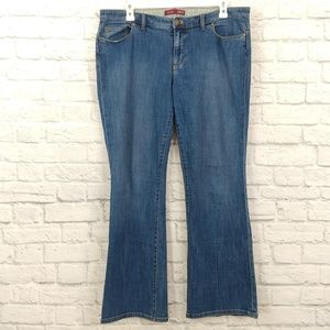 IZOD | Classic Wash High Rise Flare Leg Jeans